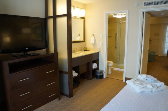 Embassy Suites by HIlton Corpus Christi: King Room with View of Bathroom