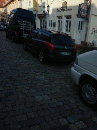 Greifswald, Alemanha: Die Pension von Vorne