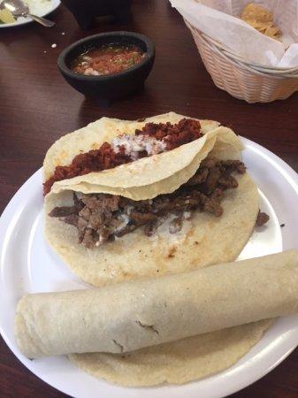 Taqueria Beccerra: Hand rolled tortilla and delicious steak taco