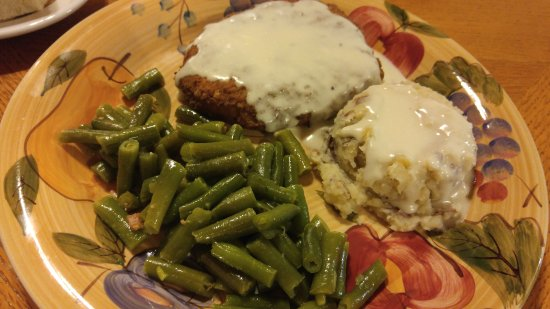 Rockwall, TX: chicken fried steak, mashed potatoes and green beans