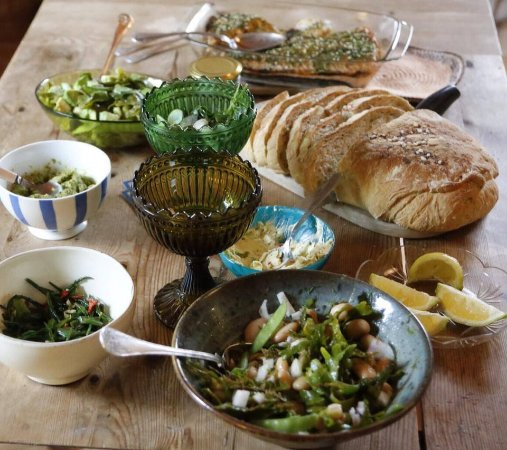 Vastra Gotaland County, Sweden: Lovely meal cooked with foraged seaweed