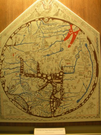 Copy of the Mappa Mundi in English Picture of Mappa Mundi