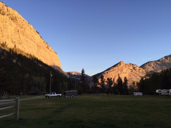 Sun Canyon Lodge: View from our campsite