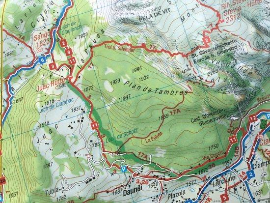Kartenausschnitt Picture of Seceda Ortisei TripAdvisor