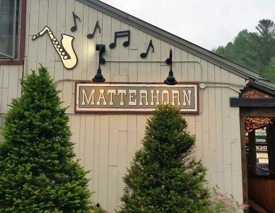 Matterhorn Restaurant: From the parking lot.