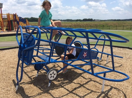 "Runway Park at GMU: Biplane ""Jungle Gym"""
