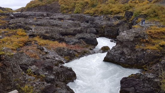Husafell, Islandia: Head of the falls after you walk along the trail a couple of minutes