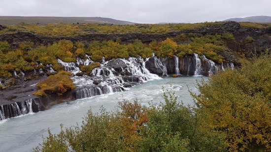Husafell, Islandia: A section of a much wider set of falls