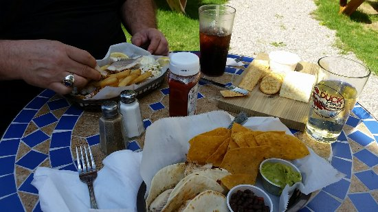 Christmas, MI : Fish Tacos, Friday Fish Filet and Smoked Whitefish Dip w/Crackers Appetiser