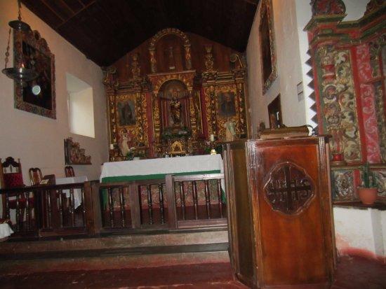 inside church of orosi