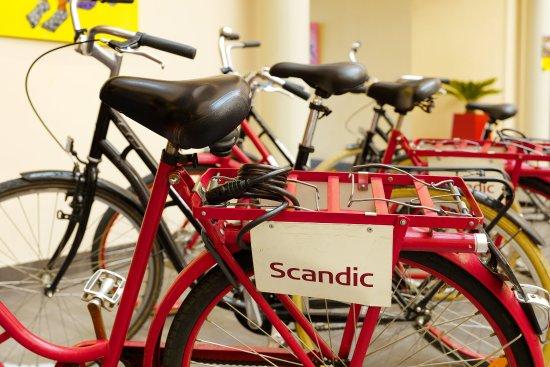 Lund, Sverige: Scandic Star Usp Bicycle Detail