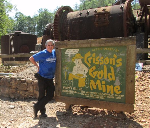 Dahlonega, GA: greetings from an operating God mine
