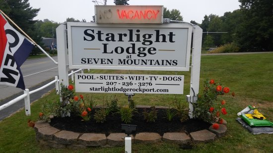 Starlight Lodge at Seven Mountains: New sign
