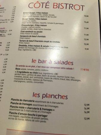 Meudon, Frankrig: menu prix2