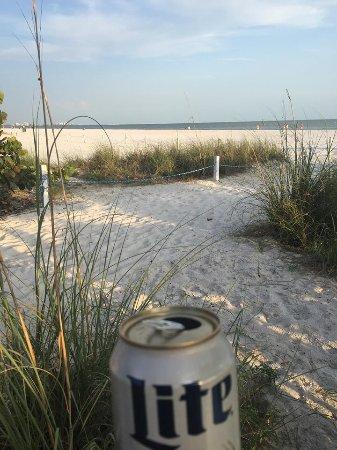 enjoying a drinkat The Beach Pub! Always a good time!