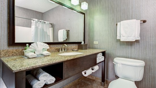 Riverwoods, IL: Guest Bathroom with New Elegant Vanity
