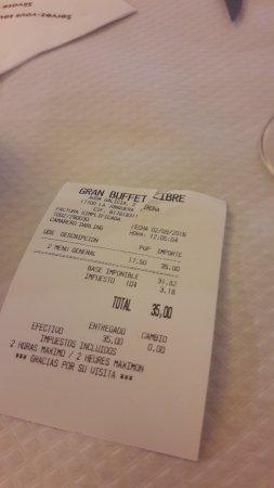 Gran Buffet Libre : la note