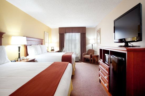 "Holiday Inn Express & Suites- Sulphur (Lake Charles): Queen Bed with 37"" Flat Screen TV Mico/Refrig"