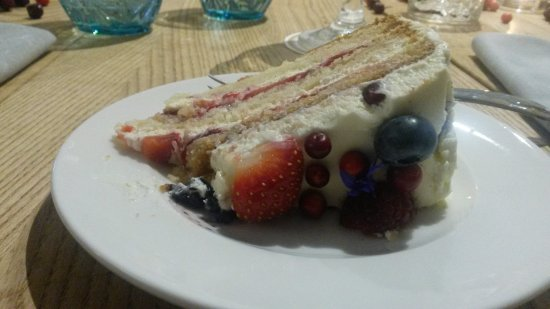 Valmiera, Letonia: Birthday cake with fresh berries. Yum Yum