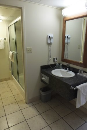 Twin Pine Motor Inn: Lavatory Outside of Bathroom