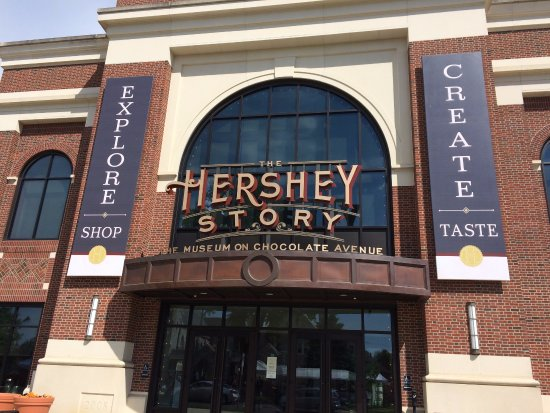 The Hershey Story: Outside from the sidewalk