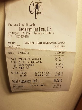 Can Forn: Not cheap but good paella