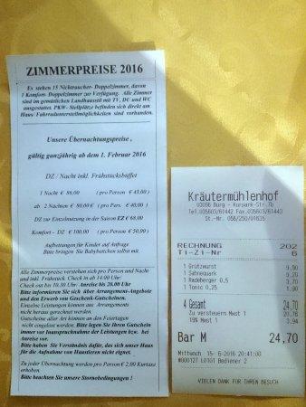 Restaurant Kräutermühle Burg (Spreewald): Preise im Kräutermühlenhof