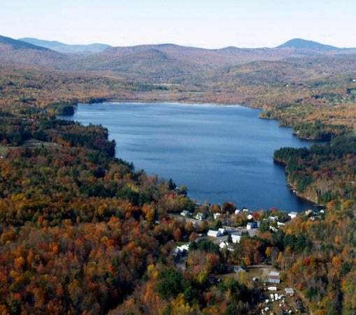 Aerial View Wilson Lake & Wilton Maine