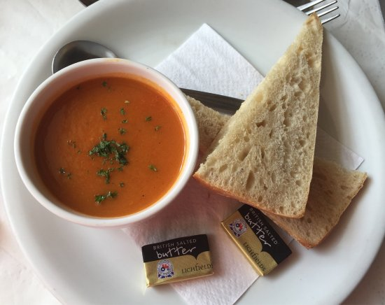 Pevensey, UK: Sweet Potato & Red Pepper Soup