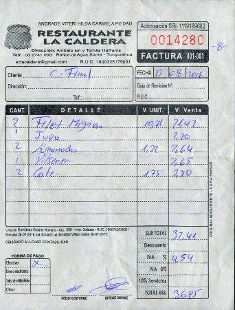 La Caldera: Für Ecuador ein gutes Preis-Leistungsverhältnis