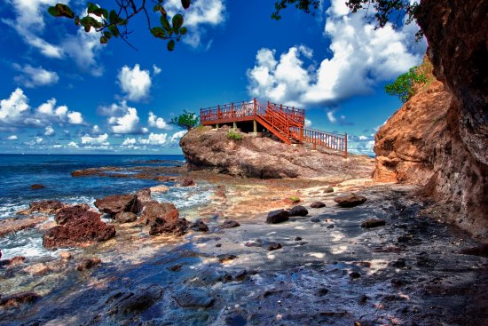 Cap Estate, St. Lucia: Rock Maison From Steps