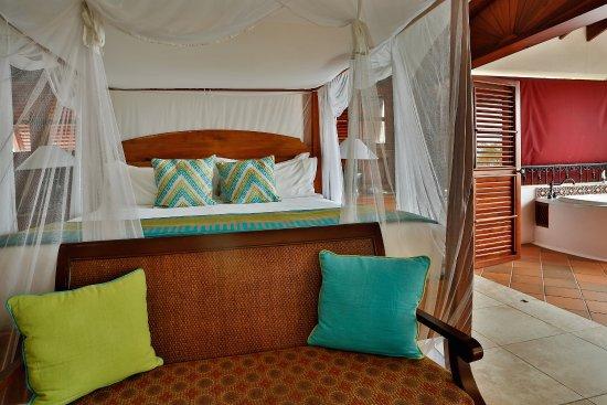 Cap Estate, St. Lucia: Villa Suite With Jacuzzi Bedroom