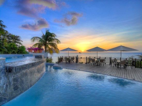 Cap Estate, Saint Lucia: Cap Maison Perfect Sunsets From Clifftop Pool