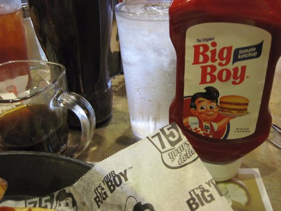 Petoskey Big Boy: they have their own runny Ketchup