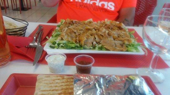 Pierrelatte, Francia: assiette salade kebab 👍