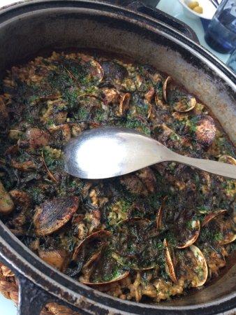 """Cunit, Spania: Arròs de cloïsses i alga Codium. """"Espectacular"""""""