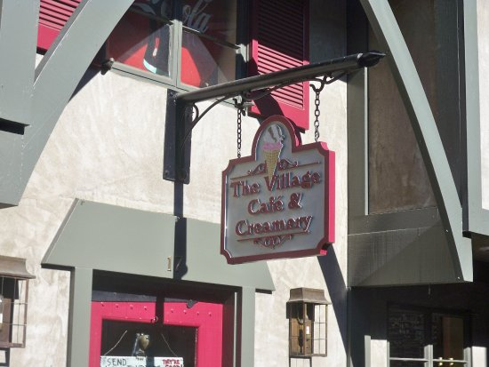 The Village Cafe & Creamery: Exterior Signage
