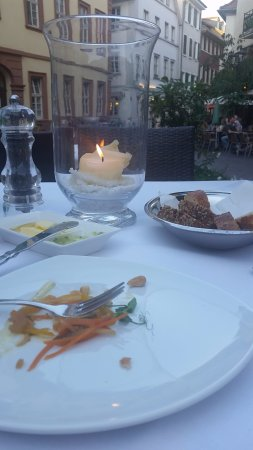 Hotel Villa Marstall: This is dinner at a restaurant about 20 steps from the hotel entrance.