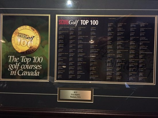 Wallace, Kanada: #12 in the top 100 courses in Canada