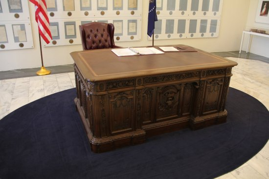 Fremont, OH: The famed 'Redoubt' desk in the Presidential area of the museum