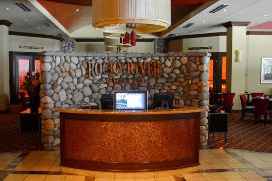 Restaurant furniture hostess station designs