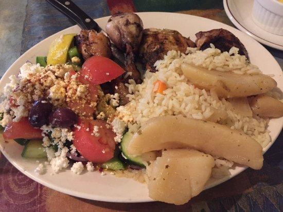 Theaann's Greek Palace: Greek Chicken w/ Roasted Potato