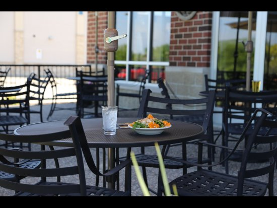 Geneseo, IL: The outdoor patio is a great place to relax.