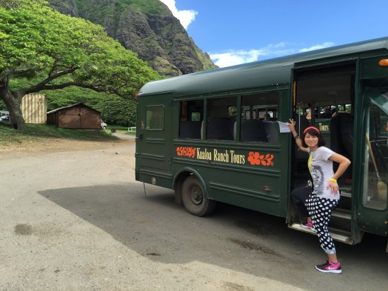 Kaneohe, Havai: ますで園内の映画ロケ地を見て回ります。