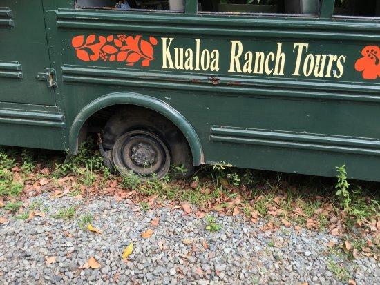 Kaneohe, Hawái: 途中、バスのタイヤがバーストするというトラブルがありました。