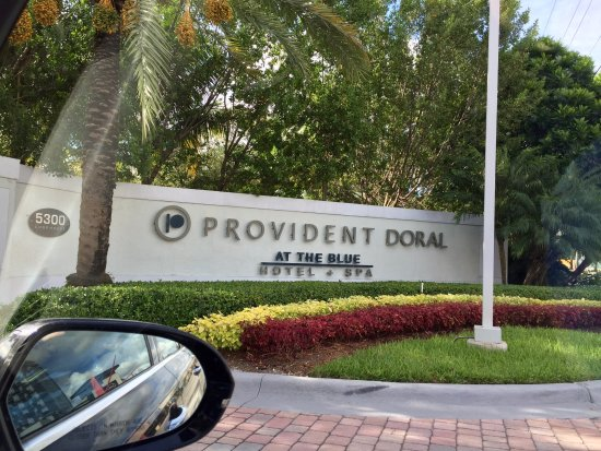 Provident Doral at The Blue Miami: Sign and main Hotel-Resort gated entrance...