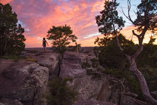 Shawnee National Forest: Sunset To The South At Garden Of The Gods