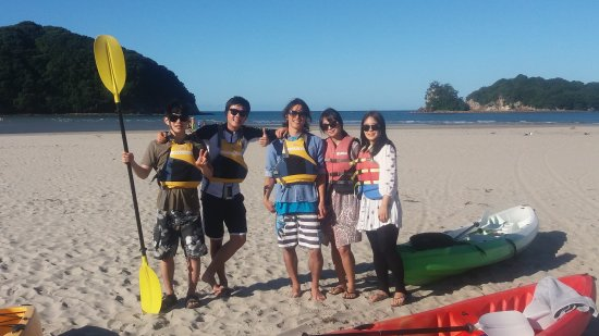 Coromandel Peninsula, Nueva Zelanda: Kayak group ready to go