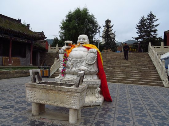 Wutai County, China: Outside the temple.