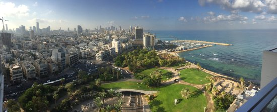 Touring Israel Luxury Day Tours: View from our suite at the Hilton Tel Aviv